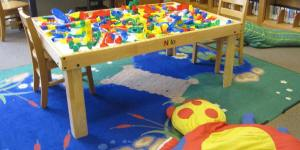 Children's Room Legos at Mount Vernon Public Library Cole Library