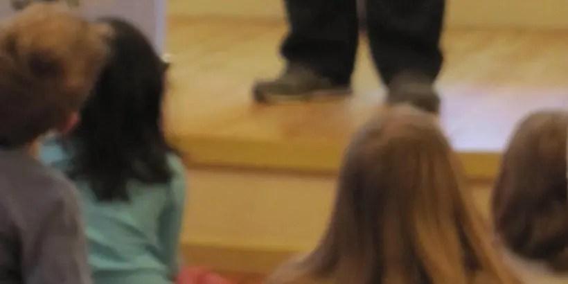 Children attending Comedy Festival Magic Show