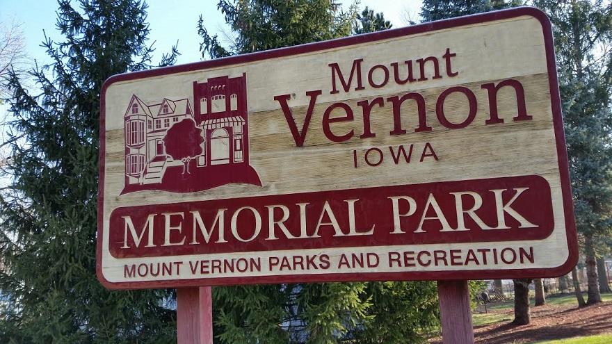 memorial park sign