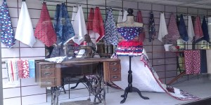 an example of Anna Woodward's work at the Sewing House in Ottumwa