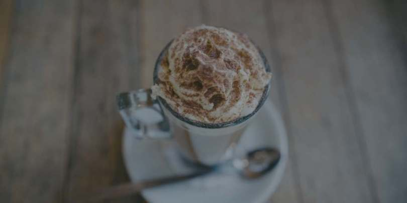 Cup of cocoa with whipped cream