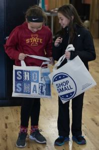 2 Girls With Shop Small Saturday Bags November 2017