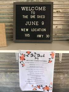 The She Shed Grand Opening