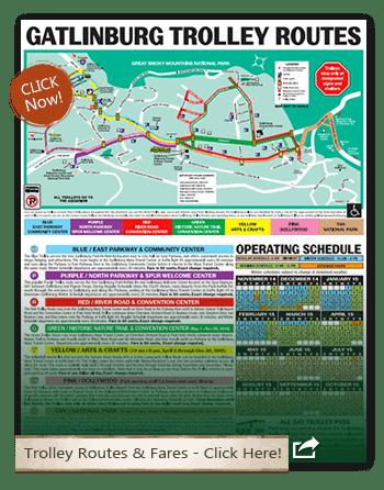 Map Of Gatlinburg Area : gatlinburg, Smoky, Mountains, Information, Pigeon, Forge, Trolley