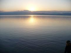 sunrise at Ohrid Lake