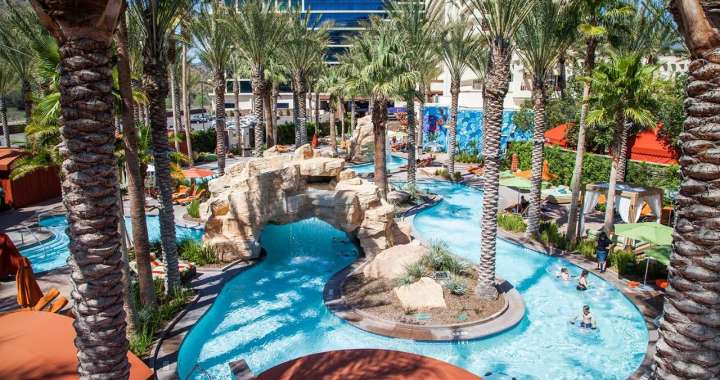 lazy river at Harrah's