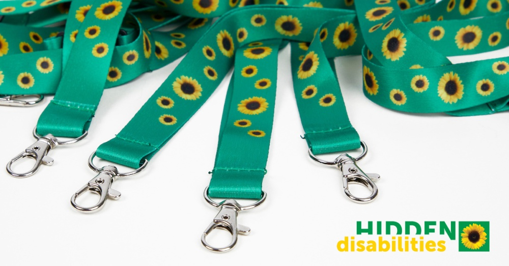 Hidden disabilities lanyards