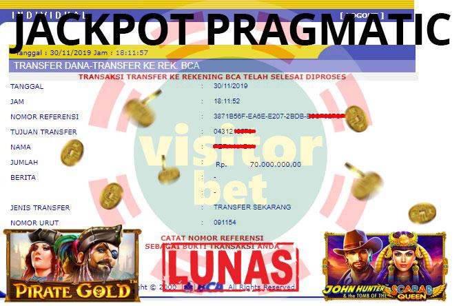 Pemenang Pragmatic Slot Game Sabtu 31 November 2019