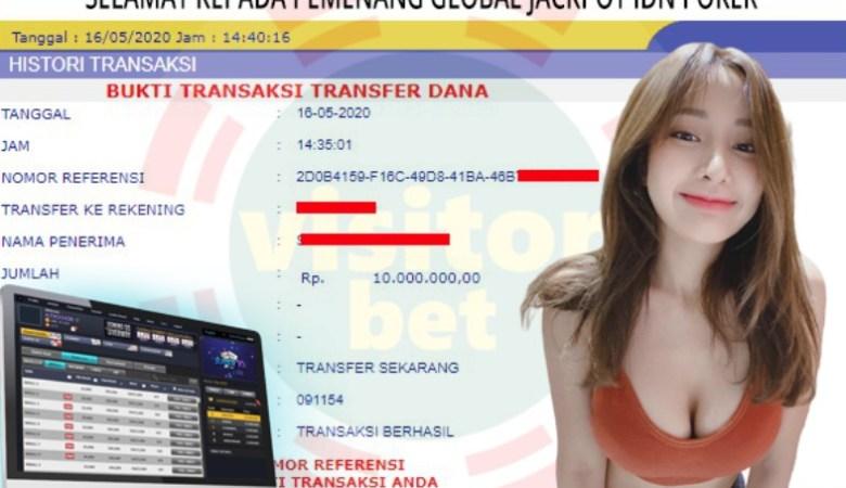Pemenang Global Jackpot IDN Poker Sabtu 16 Mei 2020
