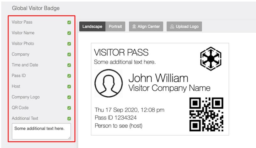 global visitor badge screenshot