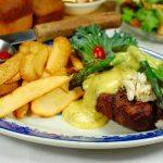 2-Steak Oscar - Gold Eagle Inn Brookville