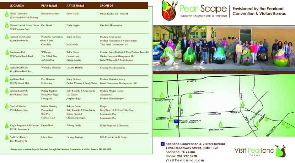 Pear-Scape Trail Map of Locations