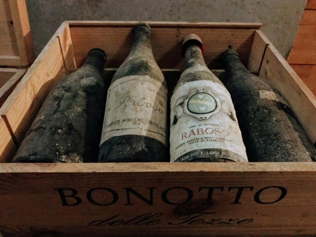 Visit Prosecco Italy Vineyards Bonotto Delle Tezze wines old bottles
