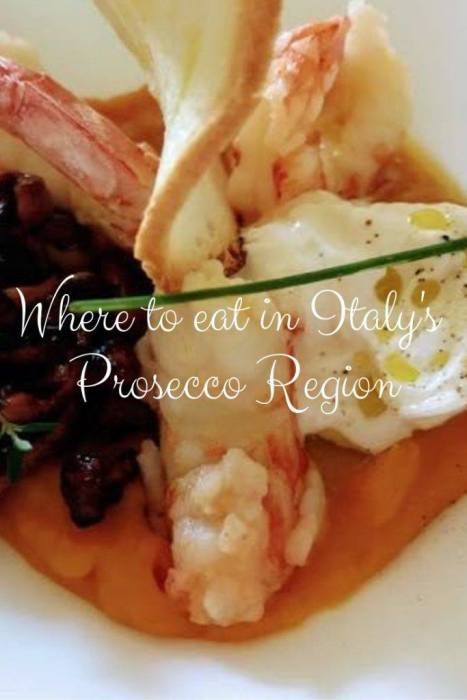 Just one hour from Venice by train. Here's where to eat in the Prosecco region of Italy including Michelin star, picnic spots, fresh pizza, pasta and more.
