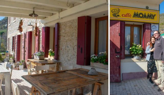 Where to eat in the Prosecco Region - Caffe Moamy
