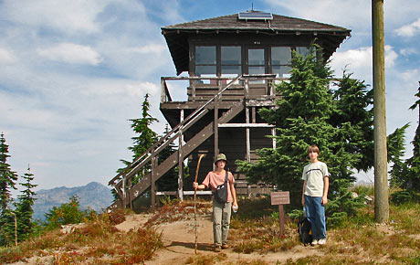 Fire lookouts of mount rainier for Fire tower cabin plans