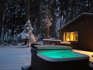 Rainier Cottages Outdoor Hot Tub