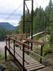The intimidating-to-some Tahoma Creek Suspension Bridge © Craig Romano