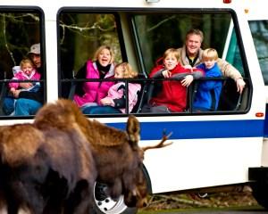 Heated tram ride at Northwest Trek and Wildlife Park