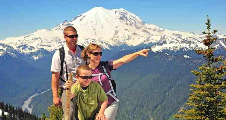 Family Hiking at Crystal Mountain Summer