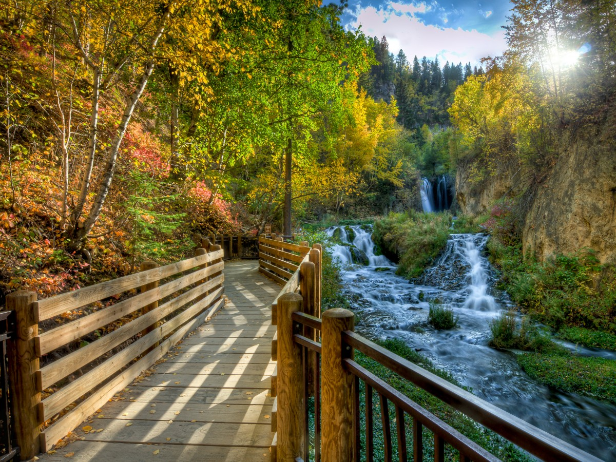 Roughlock Falls In Spearfish Sd