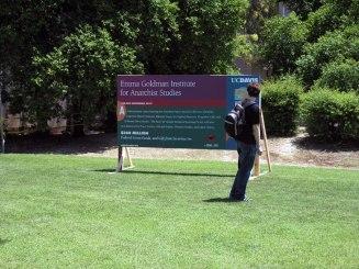 Man with Emma Goldman Sign