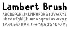 Lambert Brush Font