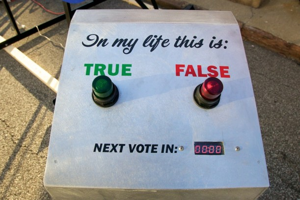 Capitalism Works For Me! True/False voting interface
