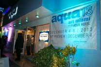 Charlie James Gallery Works on Aqua Hotel Front Windows at Aqua Fair 2013 A by Margery Gordon 1
