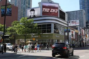 THE END Toronto Video Billboard