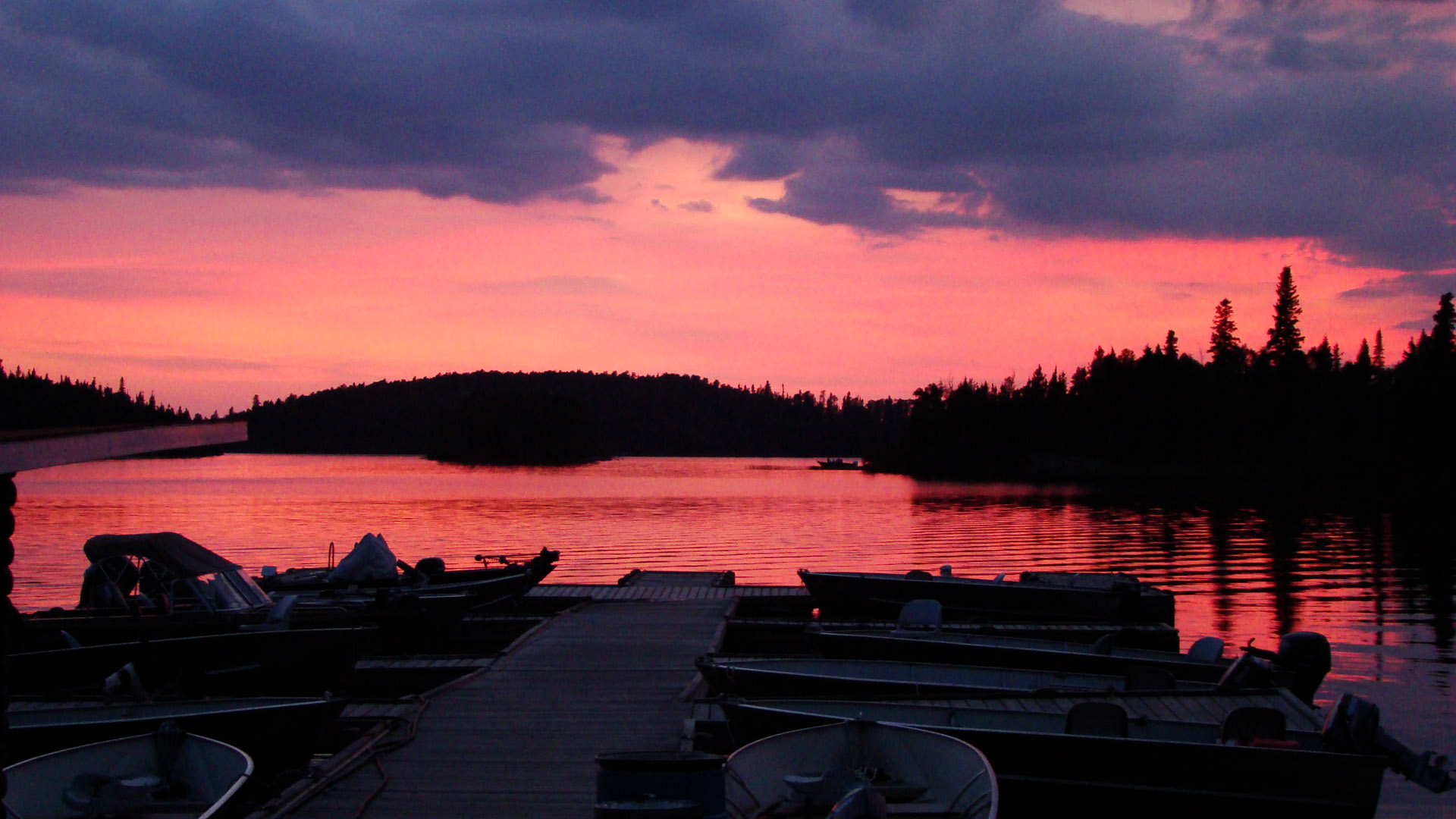 Live Falls Wallpaper Free Download Red Lake Sunset Country Ontario Canada