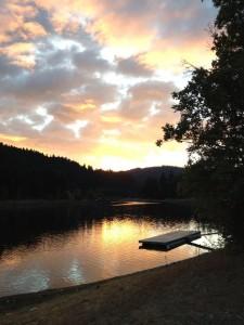 Sunset on Ruth Lake