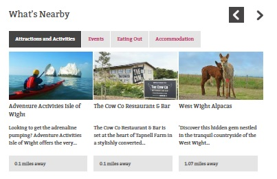 enahnced and premium rankings - example image of attractions near the West Wight