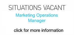 job vacancy for marketing operations manager