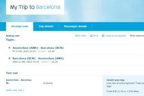 KLM - koltuk seçimi