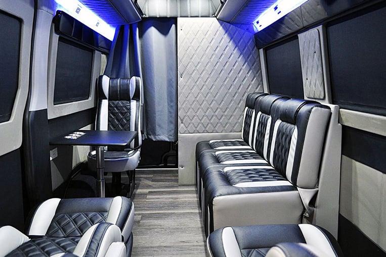 Inside Yassi Pressmans customized Hyundai H350 van  VISOR PH