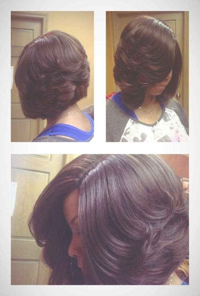 Cute Ccurled Up Bob For Black Women