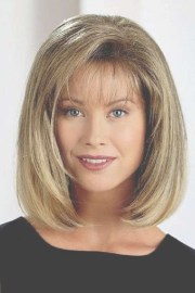 hairstyles bobs medium length bangs