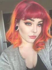 fire red medium hairstyles