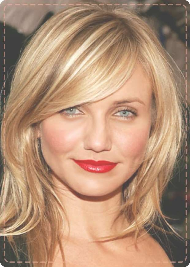 Long Layered Choppy Hairstyle With Side Swept Bangs Cosmetik