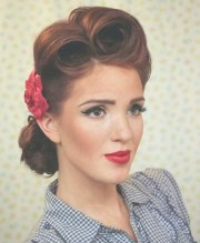 collection of 1950s medium hairstyles