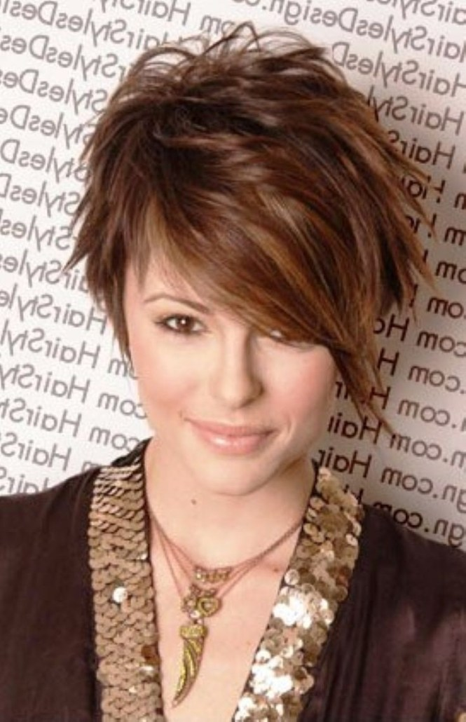 12 Short Hairstyles For Round Faces Women Haircuts Popular Throughout Newest Pixie