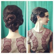 1950s updo hairstyles long