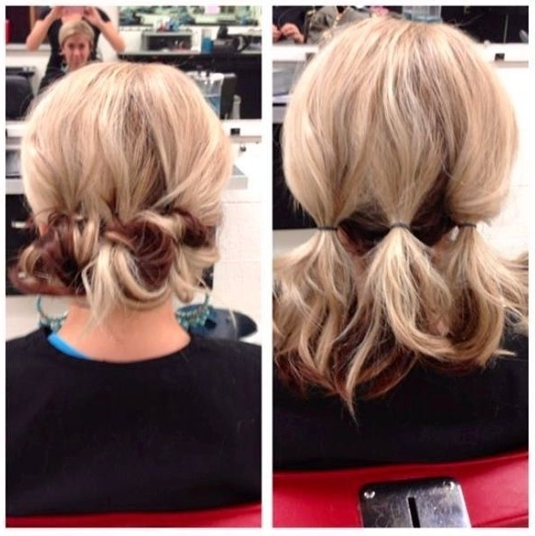 Easy Do It Yourself Updos For Mid Length Hair Calamarislingshotte