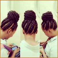 15 Best Collection of Black Braided Bun Updo Hairstyles