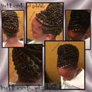 of stuffed twist updo hairstyles