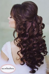 Top 15 of Hair Half Up Half Down Wedding Hairstyles Long Curly