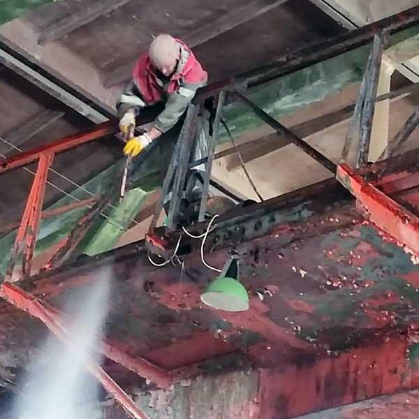 Антикоррозийная обработка мостовых кранов (3)
