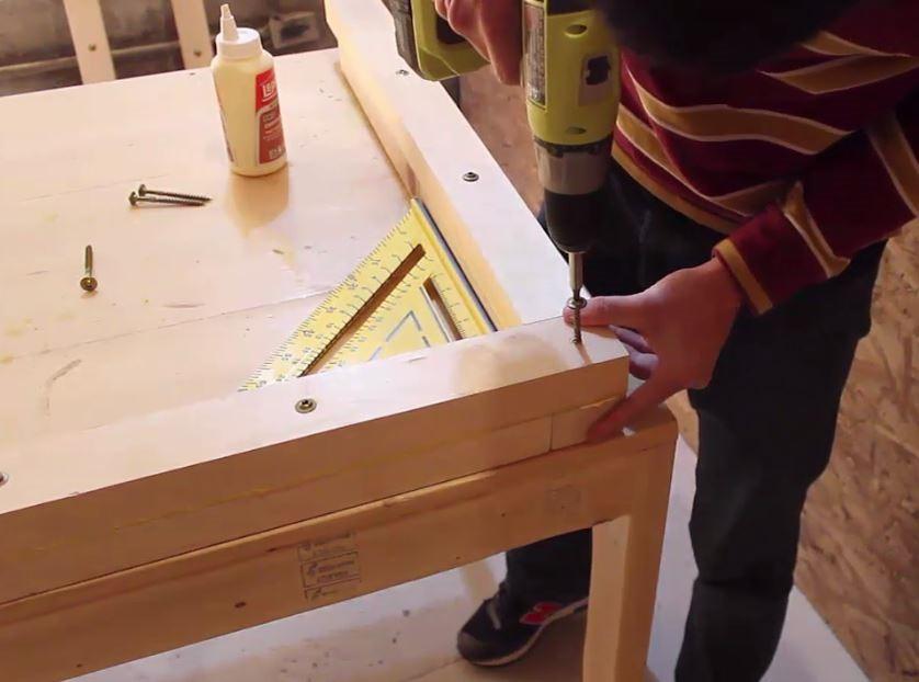 Comment faire une table manger ep10 - Comment assembler deux planches de bois ...