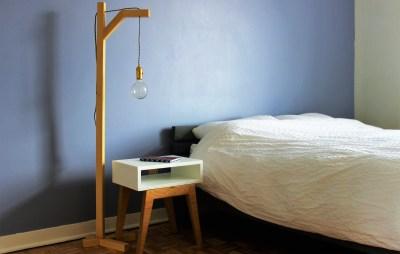 Comment fabriquer une lampe sur pied avec un liteau